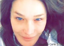Carla Bruni sans maquillage et au réveil sur Instagram
