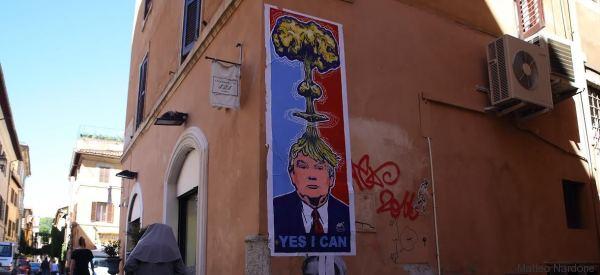 La street art porta Trump a Roma, l'effetto è esplosivo