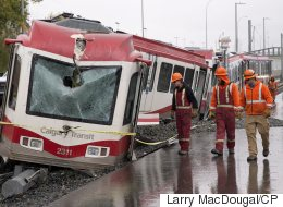 Driver Seriously Injured After Calgary C-Train Derails