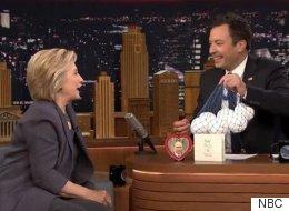 힐러리가 트럼프와의 인터뷰를 꼬집으며 지미 팰런에게 한 방 먹였다!