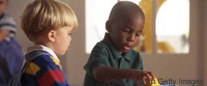 BABY BLACK WHITE SCHOOL