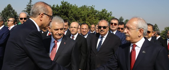 ERDOGAN WITH THE TURKISH PARTY LEADERS
