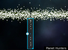 Amateur Planet. An example of star brightness data from Planet Hunters that