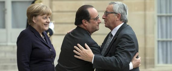 JUNCKER MERKEL HOLLANDE