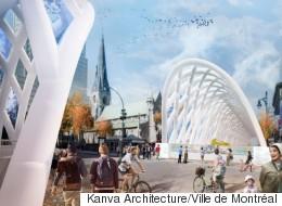 Des tunnels gonflables géants pour «décorer» la rue Sainte-Catherine