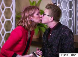 Céline Dion embrasse un jeune homme de 27 ans sur la bouche dans cette vidéo