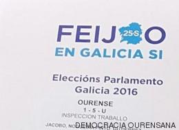 Polémica por estas carpetas del PP de Galicia