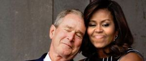 MICHELLE OBAMA GEORGE W BUSH
