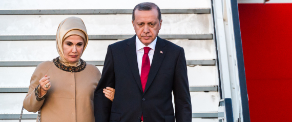 ERDOGAN AND HIS WIFE