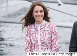 Kate Middleton Goes Canadiana In Red And White Alexander McQueen