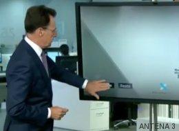 La genial salida de Matías Prats cuando la pantalla táctil le dejó de funcionar en directo