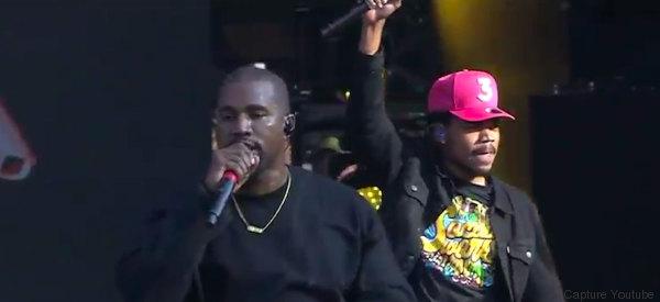 Il a suffi d'une apparition surprise de Kanye West pour que le stade soit envahi