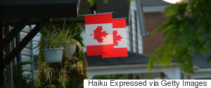 HOUSE CANADIAN FLAG