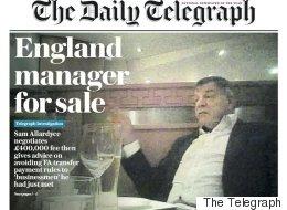 잉글랜드 축구대표팀 감독이 은밀한 거래를 제안하다