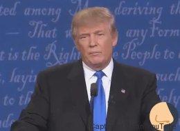 Donald Trump a passé le débat face à Hillary Clinton... à renifler