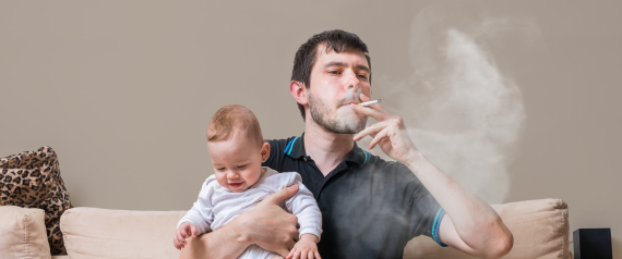FATHER SMOKES BABY
