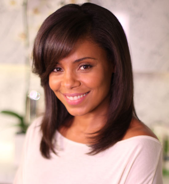 Sanaa Lathan hair care