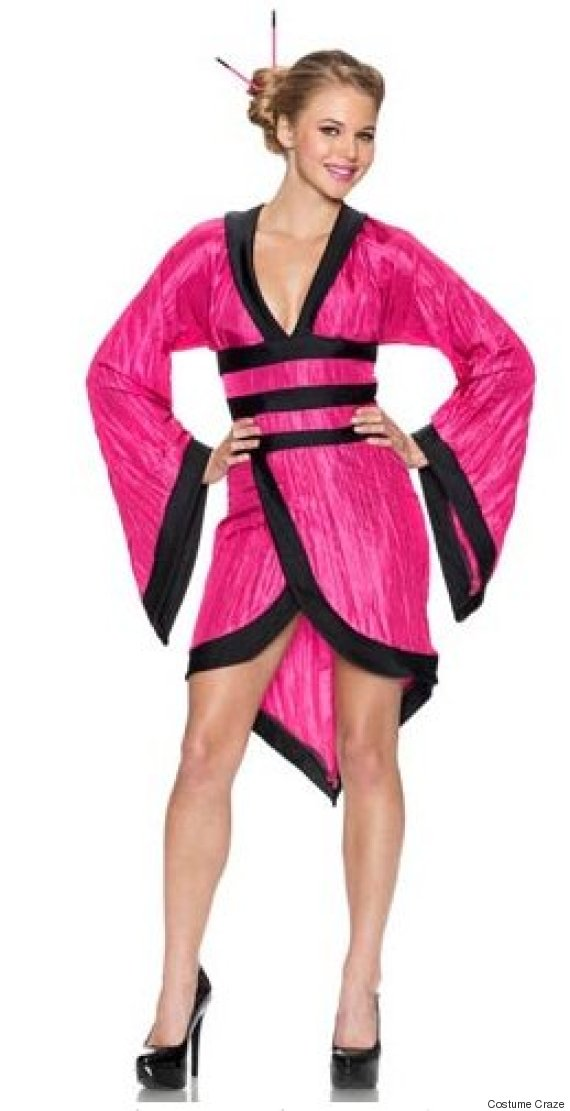 adult gorgeous fuchsia geisha costume