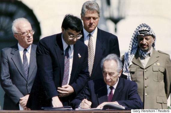 peres clinton arafat 1993