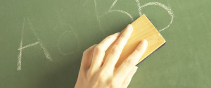 ERASING CHALK BOARD