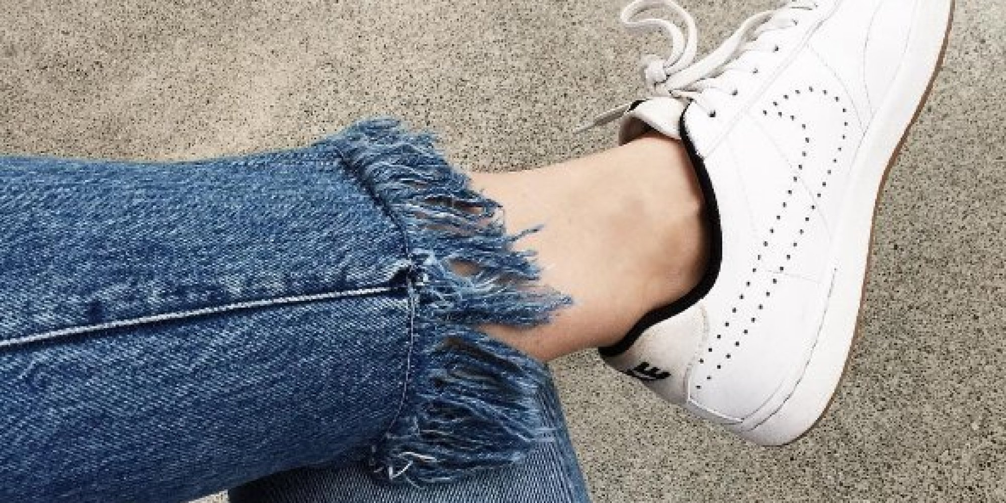 DIY Frayed Jeans How To Fray Your Denim Into Fringed Hem Perfection