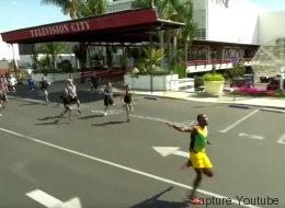 Si vous courriez à côté d'Usain Bolt, ça donnerait ça