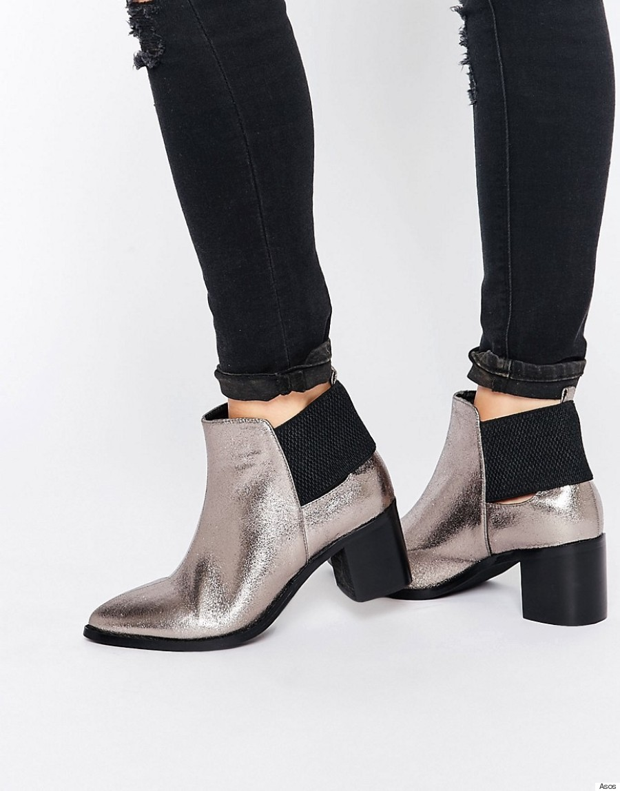 metallic boot