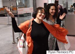 Voyez l'arrivée d'Homa Hoodfar à Montréal
