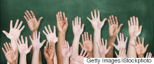 STUDENTS RAISED HANDS