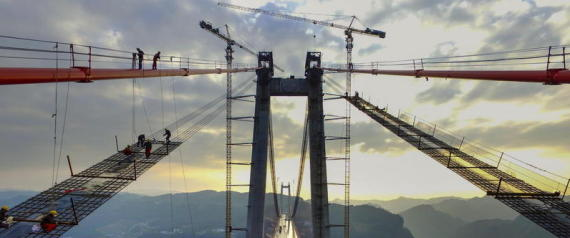 COSTRUZIONE DEL QINGSHUI RIVER BRIDGE