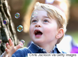 Royal Kids Lose Their Cool For Balloons, Bubbles And Dogs At Party