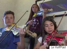 Des instruments de musique fabriqués à partir de déchets