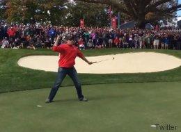 Un inconnu donne une leçon de golf aux meilleurs joueurs du monde