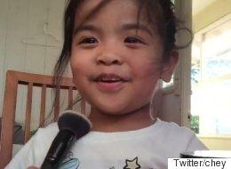 이 세 살짜리 어린이의 메이크업 강의는 당신의 마음을 녹일 것이다(동영상)