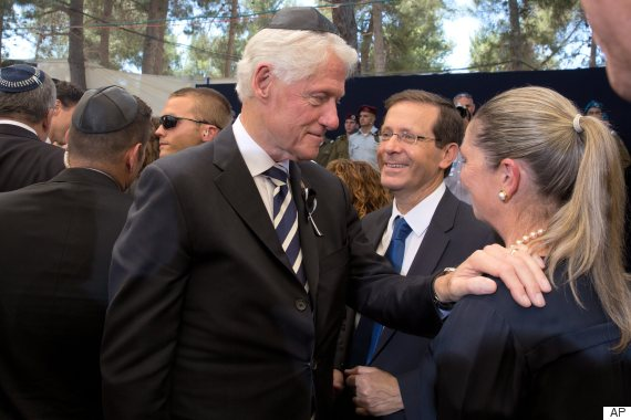 bill clinton shimon peres funeral