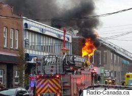 Un incendie majeur dans l'arrondissement de Lachine fait deux blessées