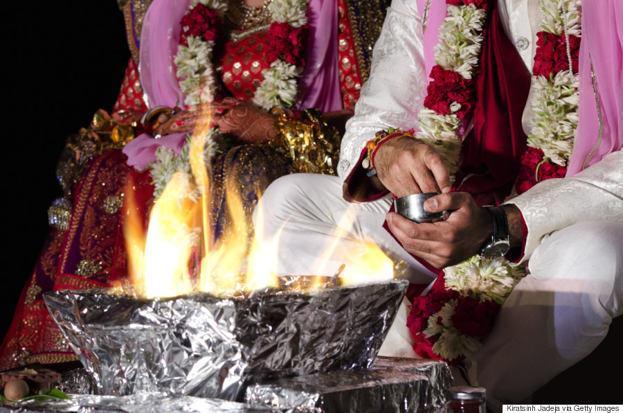 wedding india fire