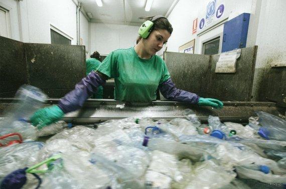 separación plásticos