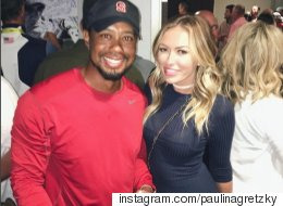 Paulina Gretzky Happily Takes A Fan Pic With Tiger Woods