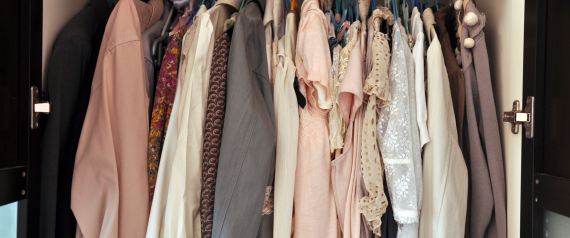 CROWDED CLOTHES ON HANGERS