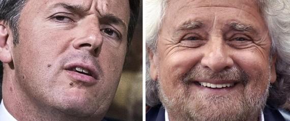 BEPPE GRILLO MATTEO RENZI