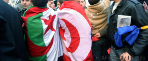 TUNISIA ALGERIA FLAGS