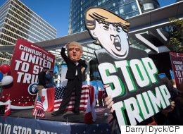 Anti-Trump Activists Target American Ex-Pats In Canada