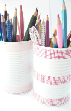 Craft Of The Day: Tin Can Pencil Holders