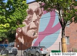 Hommage à Janine Sutto en forme de murale