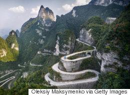 18 des routes les plus hasardeuses à travers le monde
