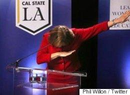 Une politicienne américaine «dab» lors d'un débat