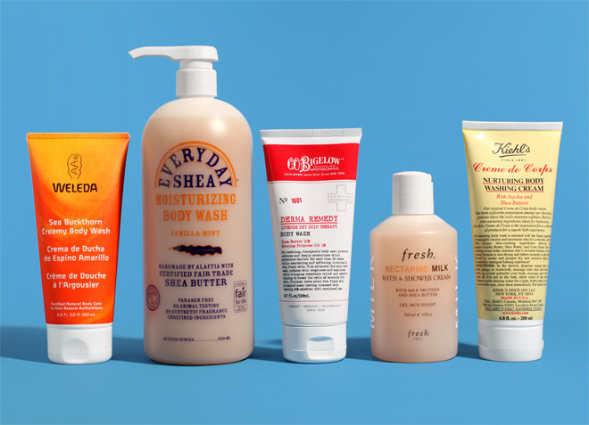 here the top five most hydrating shower gels in all of the land as roadtested by me