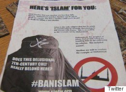 Des tracts islamophobes distribués à Edmonton