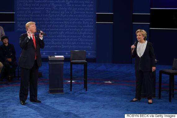 clinton trump debate october 2016